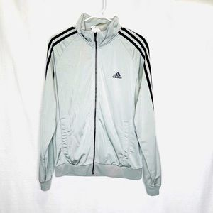Adidas Silver Stripped Track Jacket